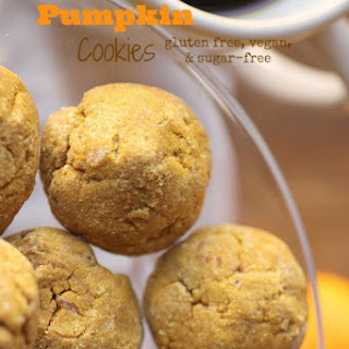 Soft Pumpkin Cookies (vegan w/ gluten and sugar-free options)