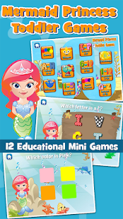 Mermaid Princess Toddler Games