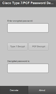 Cisco7PCF -  Password Recovery- screenshot thumbnail