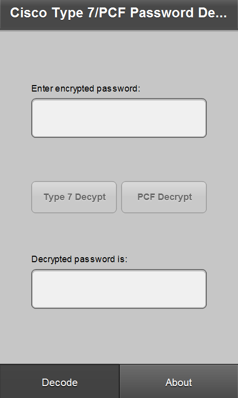 Cisco7PCF -  Password Recovery- screenshot