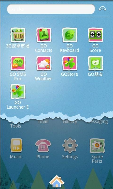 Cartoon Theme GO Launcher EX - screenshot