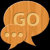 GO SMS Light Wood Theme