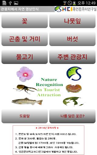 자연 꽃 잎 곤충 버섯 물고기 영상인식