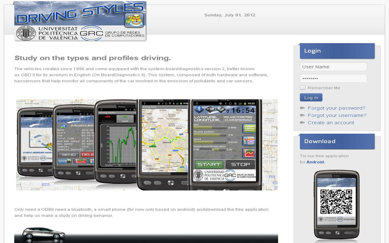 DrivingStyles OBD-II Behavior- screenshot