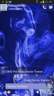 GO SMS Pro Blue Smoke Theme - screenshot thumbnail
