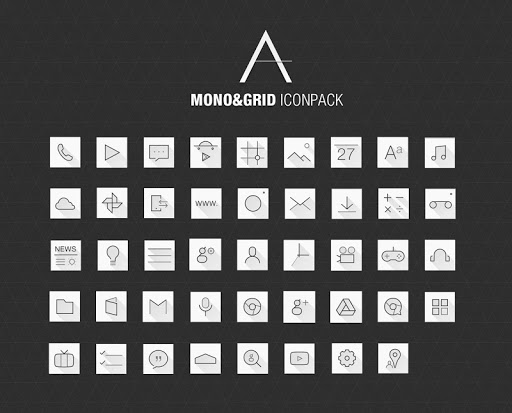 Mono Grid Atom Iconpack