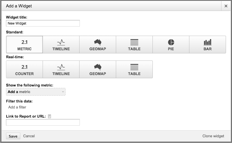 Screen shot of the widget editor.