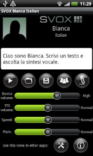 SVOX Italian Bianca Voice - screenshot thumbnail