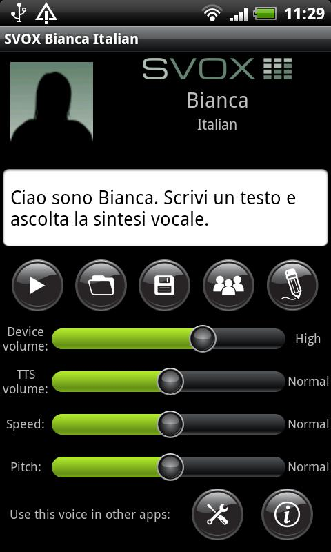 SVOX Italian Bianca Voice - screenshot