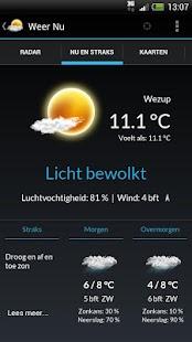 Weer Nu - Weerbericht Gratis - screenshot thumbnail