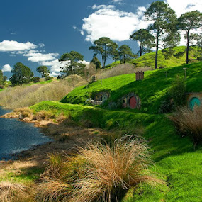 The Shire - Hobbiton | New Zealand by Pavel Aberle - Buildings & Architecture Other Exteriors ( lotr, canon, 350d, movie places, mata mata, hobbit, new zealand, hobbiton, shire )