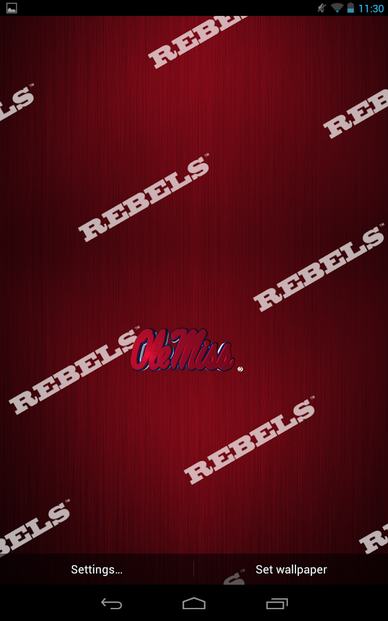 Ole Miss Rebels Live Wallpaper- screenshot