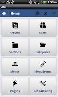 Screenshot of Joomla Admin Mobile!