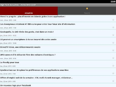 High Tech Actualités screenshot 2