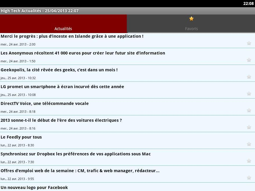 High Tech Actualités- screenshot
