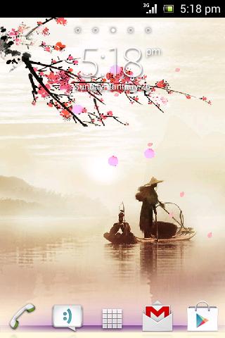 Sakura On River Live Wallpaper