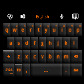 GO Keyboard Black Orange Theme