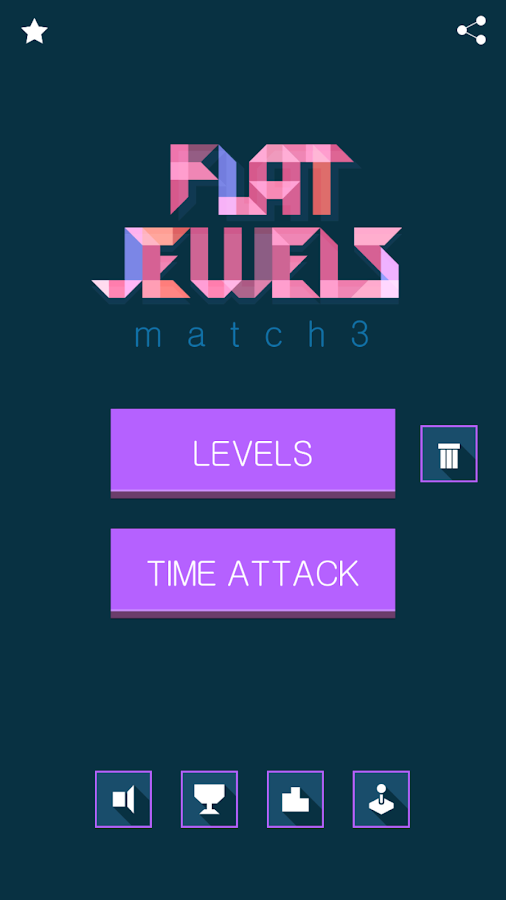 Flat Jewels Match 3- screenshot