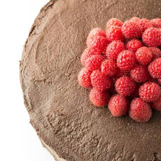 Healthier Chocolate Raspberry Layer Cake.