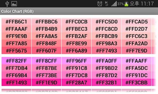 Color Chart RGB