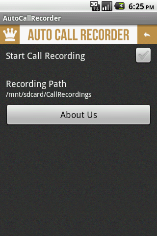Screenshots for Simple AutoCallRecorder