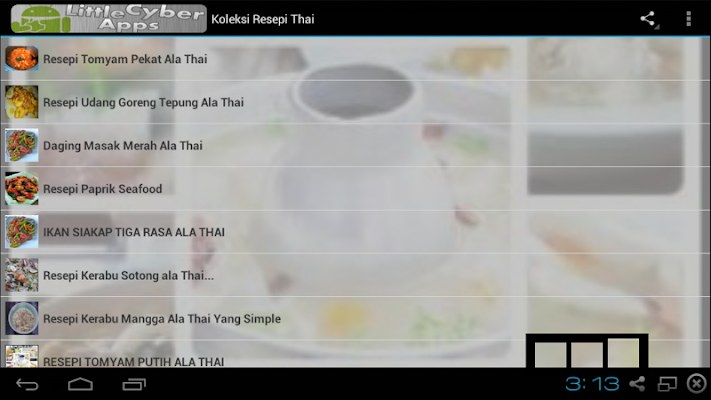 Koleksi Resepi Thai - screenshot