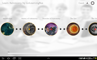 Screenshot of Learn Astronomy