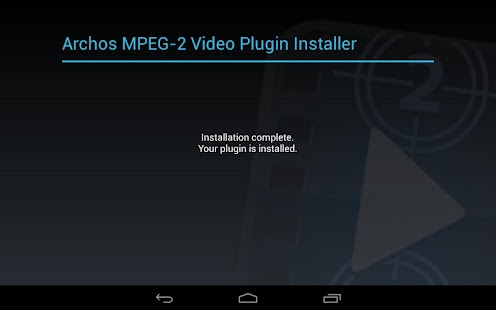 Archos MPEG-2 Video Plugin - screenshot thumbnail