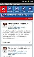 Screenshot of Adler Mannheim Fanprojekt