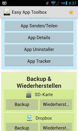 Easy App Toolbox Backup