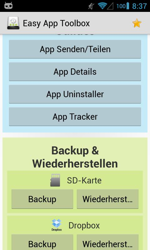 Easy App Toolbox (Backup) - screenshot