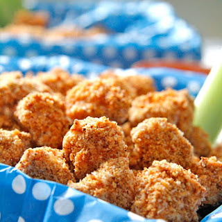BAKED BUFFALO POPCORN CHICKEN