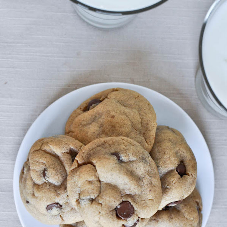 Puffy Peanut Butter Cookies with Chocolate Chips Recipe