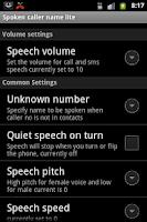 Screenshot of Talking Caller ID Free