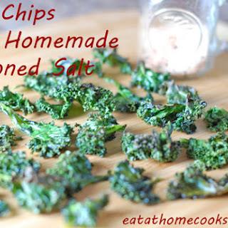 Kale Chips with Homemade Seasoned Salt