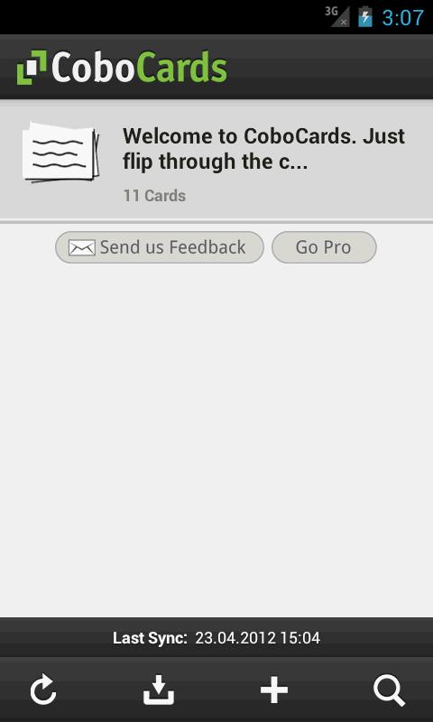 CoboCards flashcards- screenshot