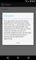 Screenshot of CardGen