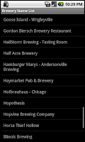 Screenshot of Illinois Brewery Finder: Phone