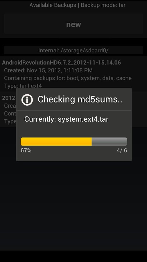 4EXT Recovery Control - screenshot
