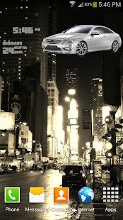 Mercedes Car Clock Widget