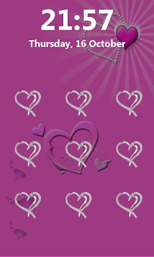 图案爱情锁屏
