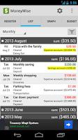 Screenshot of MoneyWise