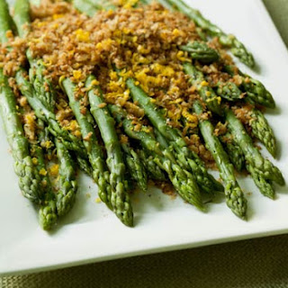 Asparagus with Brioche Crumbs.