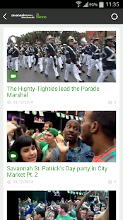 SavannahNow St. Patrick's App- screenshot thumbnail