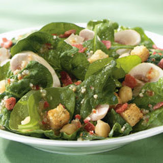 Italian Spinach & Mushroom Salad.