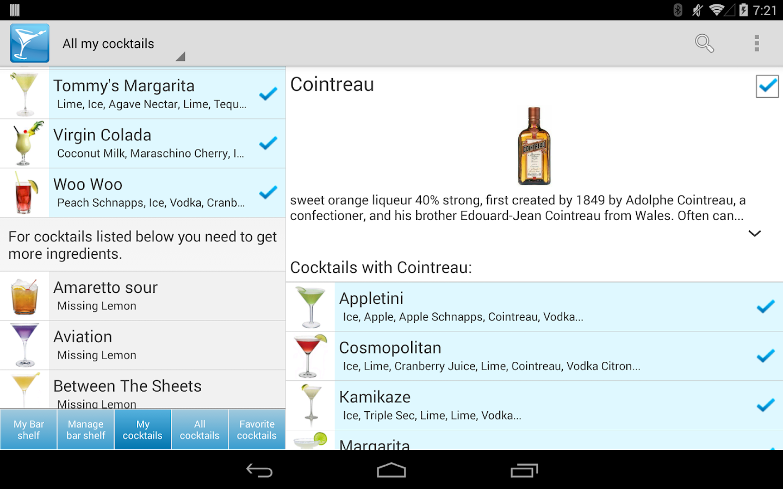 My Cocktail Bar Pro- screenshot