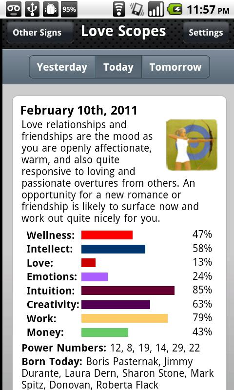 Love Horoscopes - screenshot