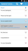 Screenshot of Learn Korean Phrasebook