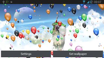Screenshot of Balloons Live Wallpaper
