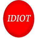Funny Idiot Button logo